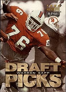 1995 Playoff Absolute Football Rookie Card #190 Warren Sapp