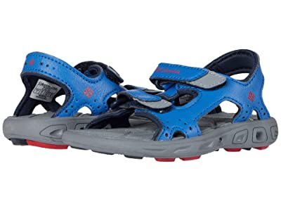 Columbia Kids Techsuntm Vent (Toddler) (Stormy Blue/Mountain Red) Boy