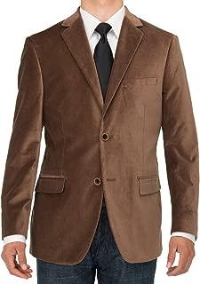Mens Two Button Velvet Blazer Working Buttonholes Suit Jacket