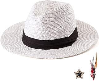 white straw beach hat