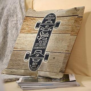 Linge de Maison de décoration carré Double Face taie d'oreiller Mignon Convient pour Voiture canapé du Salon en Plein air ...