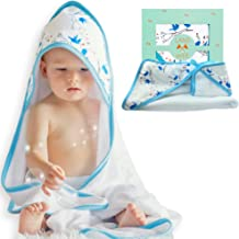Extra Soft Hooded Baby Bath Towel & Washcloth Set | Hypoallergenic & Organic Bamboo 2X Softer & More Absorbent Than Cotton | Perfect Towel with Hood for Newborn Infant to Toddler Boys and Girls