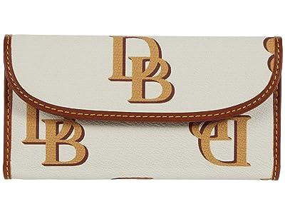 Dooney & Bourke Monogram Continental Clutch (Beige) Clutch Handbags