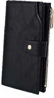 UTO Portafoglio da Donna di Pelle sintetica Capacità Extra-Large con 21 slot, Borse a mano con cinturino, Pochette e Clutc...