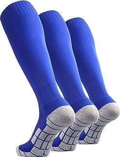 CWVLC Soccer Socks (1/3/5 pairs) Team Sport Knee High Socks for Adult Youth Kids