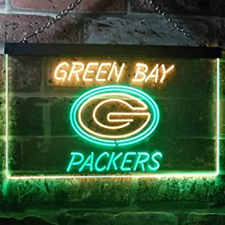 ZAKAKU Green Bay Packers Club Two Color LED Neon Sign Green and Yellow w12 x h8