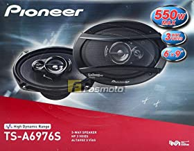 """Pioneer TS-A6976S A Series 6"""" X 9"""" 550 Watts Max 3-Way Car Speakers Pair with Carbon and Mica Reinforced Injection Molded ... photo"""