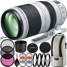 Canon EF 100-400mm f/4.5-5.6L is II USM Lens 10PC Filter Kit - Includes 3PC Filter Kit (UV-CPL-FLD) + 4PC Macro Filter Set (+1,+2,+4,+10) + More (Renewed)