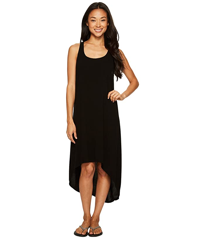 Hard Tail Hi-Low Tank Dress (Black) Women's Dress