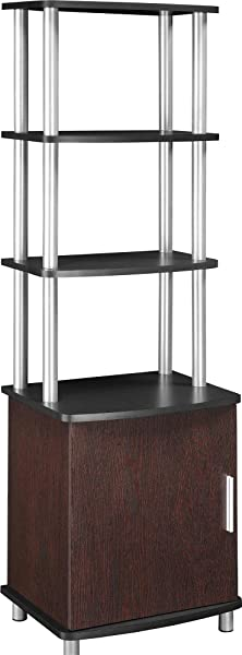 Ameriwood Home Carson Audio Stand Cherry Black