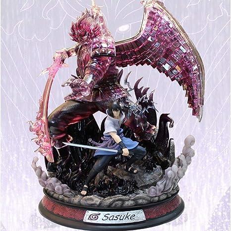 Naruto Shippuden Kakashi Susanoo Uchiha Sasuke PVC Luminous Figure Model Collect