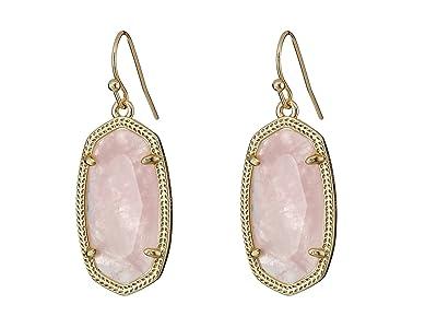 Kendra Scott Dani Earrings (Gold/Rose Quartz) Earring