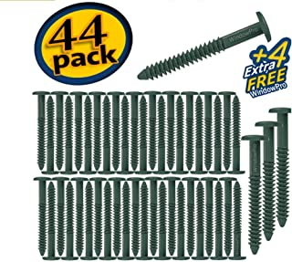 Window Shutters Panel Peg Lok Pin Screws Spikes 3 inch 48 Pack Fasteners (Forest Green) Exterior Vinyl Shutter Hardware Strongest Made in USA
