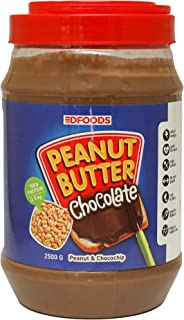 DFOODS Choco Spread Chocolate Peanut Butter (2.5 Kg - 2500 Grams)