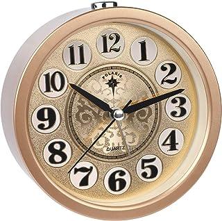 Ayybboo Reloj Despertador Analógico, Imitacion Madera Retro