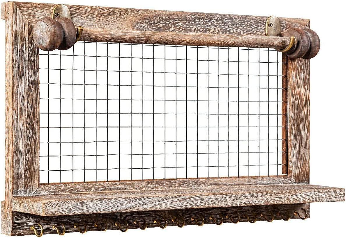 Wall Mounted Ultra-Cheap Deals Discount is also underway Jewelry Organizer Holder Vintage Wood Hange