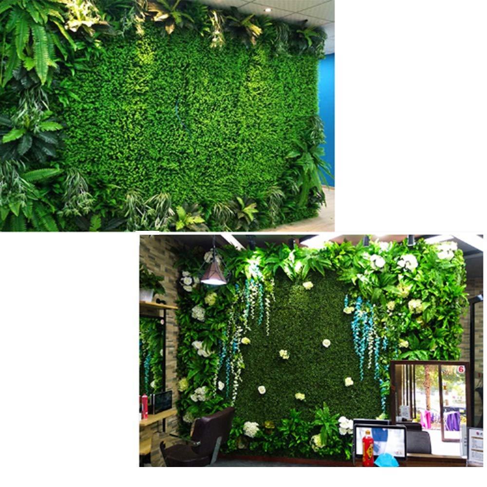 YNFNGXU Plantas Verdes Artificiales Convenientes para El Seto Artificial 40X60CM del Patio Trasero del Jardín del Uso Al Aire Libre O Interior (Color : B): Amazon.es: Hogar