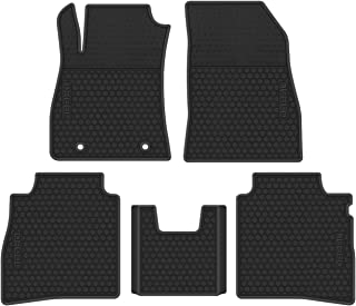 biosp Car Floor Mats Replacement for Nissan Sentra 2012-2019 Front and Rear Seat Heavy Duty Rubber Liner Full Black Vehicle Carpet Custom Fit-All Weather Guard Odorless