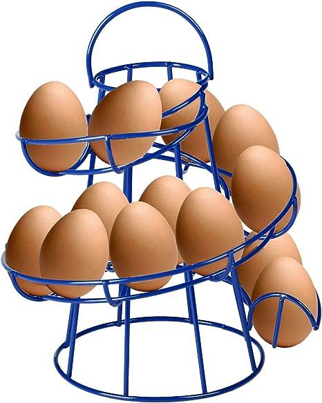 Metal Egg Skelter Mutiwill Spiral Egg Holder Kitchen Egg Storage Helter Skelter Egg Rack