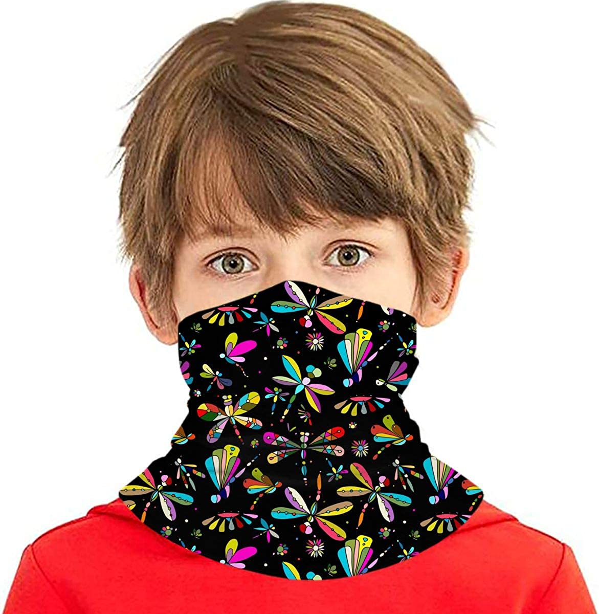 Dujiea Max 77% OFF Kids Bandanas Face Mask Vintage Dust Colorful Ranking TOP6 Dragonfly