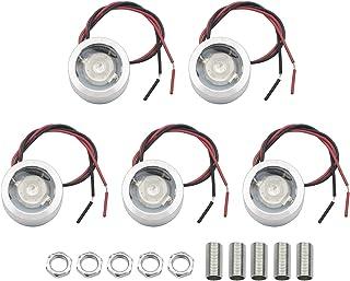 JIUWU 5 Set 12V Small Spotlight Low Voltage Lamp LED Beads 60 Degree Blue Light Lighting for Fishing Model Electronics Mac...