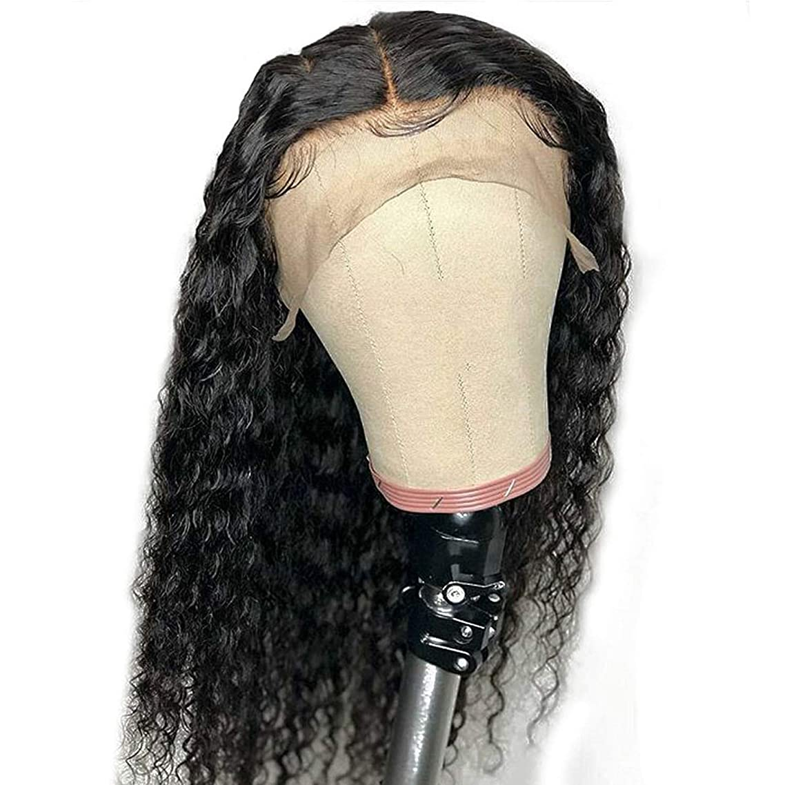 Curly 360 Lace Frontal Wig PrePlucked 136 Deep Part 180% Brazilian Remy Lace Front Human Hair Closure Wigs For Black Women,18inches,360 Lace Frontal Wig