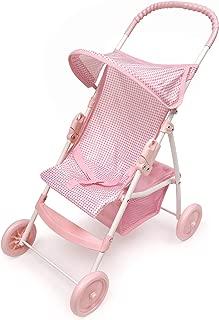 Badger Basket Folding Doll Umbrella Stroller (fits American Girl Dolls) - Pink Gingham