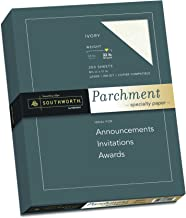 Southworth Parchment Paper, 8-1/2 x 11 Inches, 250 Per Box, Ivory (SOUJ988C)