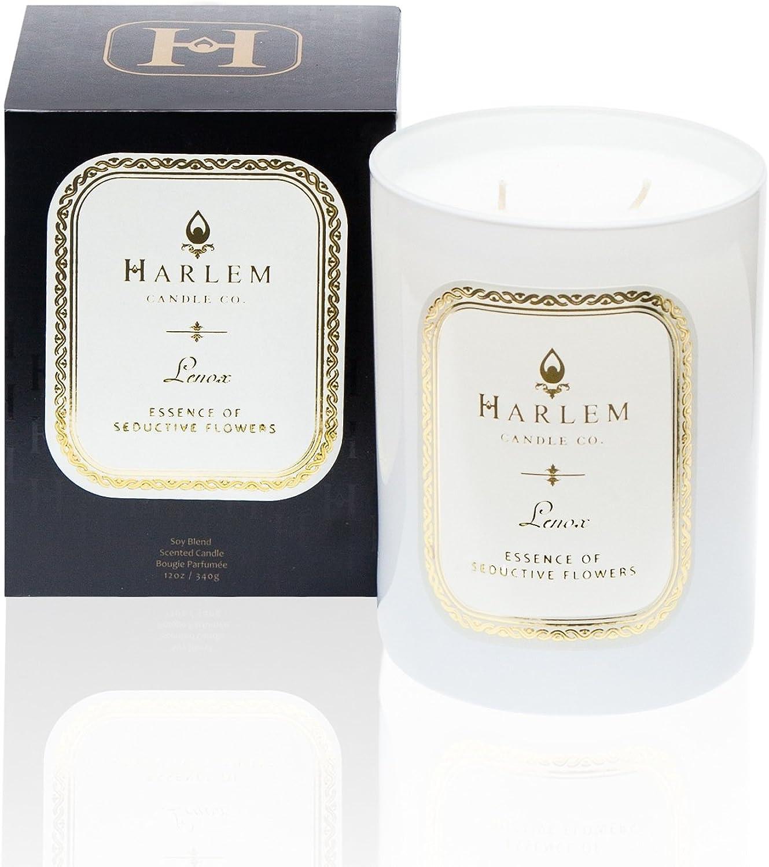 Harlem Candle Company, Lenox Luxury Candle, Double Wick, Large 12 oz, Jar Candle