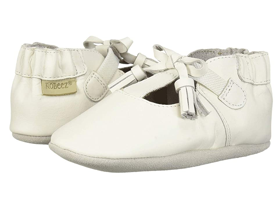 Robeez Meghan Soft Sole (Infant/Toddler) (White) Girl