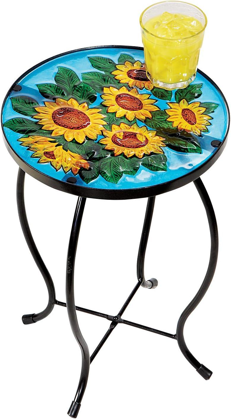 Carol Wright Gifts Table Glass Omaha Mall Fashion Sunflower