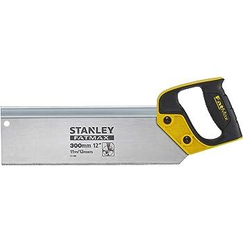 Stanley 2-17-199 - Scie À Dos Gamme Fatmax 300mm - Fabriqué en France - Idéale pour Travaux de Finition - denture JetCut 11 dents Traitement HardPoint - Lame de 0,86mm d'Épaisseur - Précision