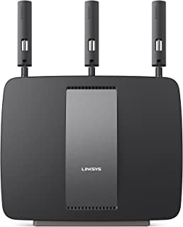 Linksys AC3200 Tri-Band Smart Wi-Fi Router with Gigabit and USB, Designed for Device-Heavy Homes, Smart Wi-Fi App Enabled ...