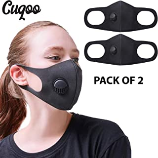 CUQOO 2x Anti Dust Mask with Filter, Face Mouth Mask,