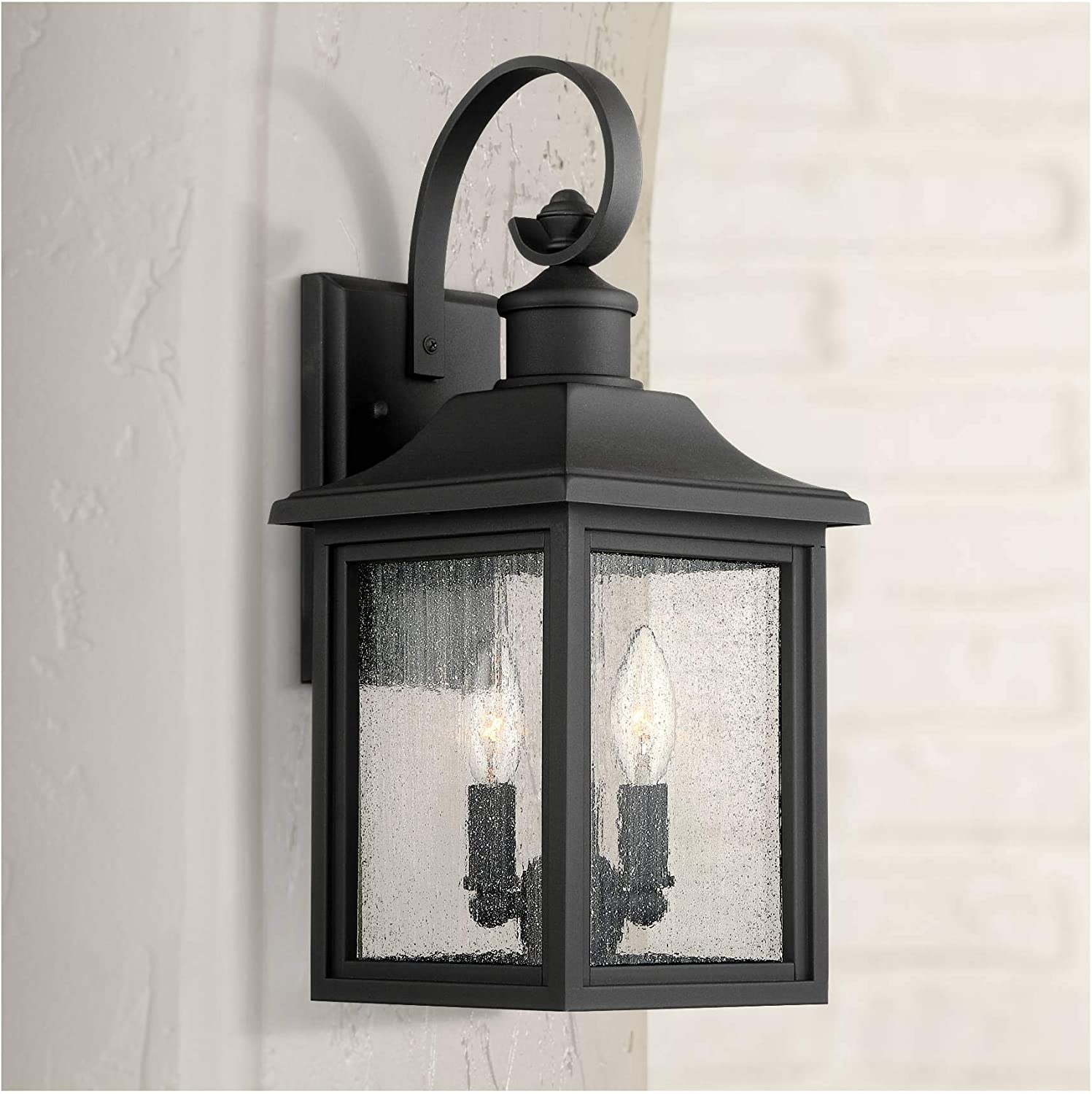 Moray Bay Max 62% OFF Outdoor Wall Light Fixture Black In a popularity Steel 4