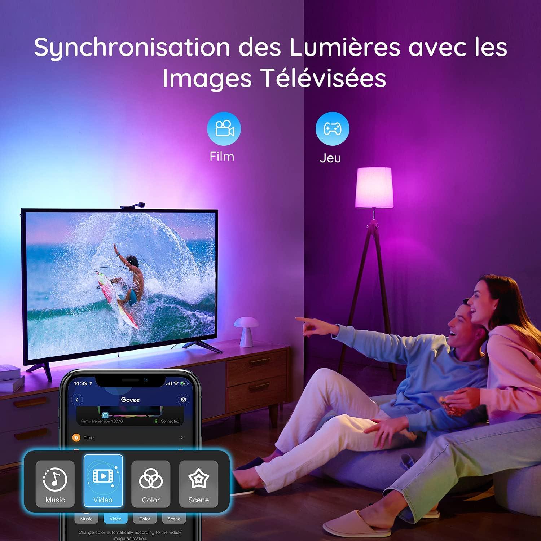 Govee Rétroéclairage TV LED WiFi Immersion avec caméra