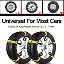 Car Snow Chains Snow Tire Chains for Most Cars Anti-Slip Car Chains Car Emergency Chains All Season Anti-Skid Snow Cables Car Cables SUV Tire Cables (for Tire Width: 185-295mm/7-11'')