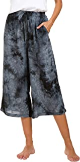 Womens Comfy Solid Tie-Dye 3/4 Lounge Pants