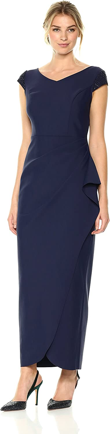Alex Evenings Womens Slimming Sheath Dress with Embellished Sleeves Special Occasion Dress