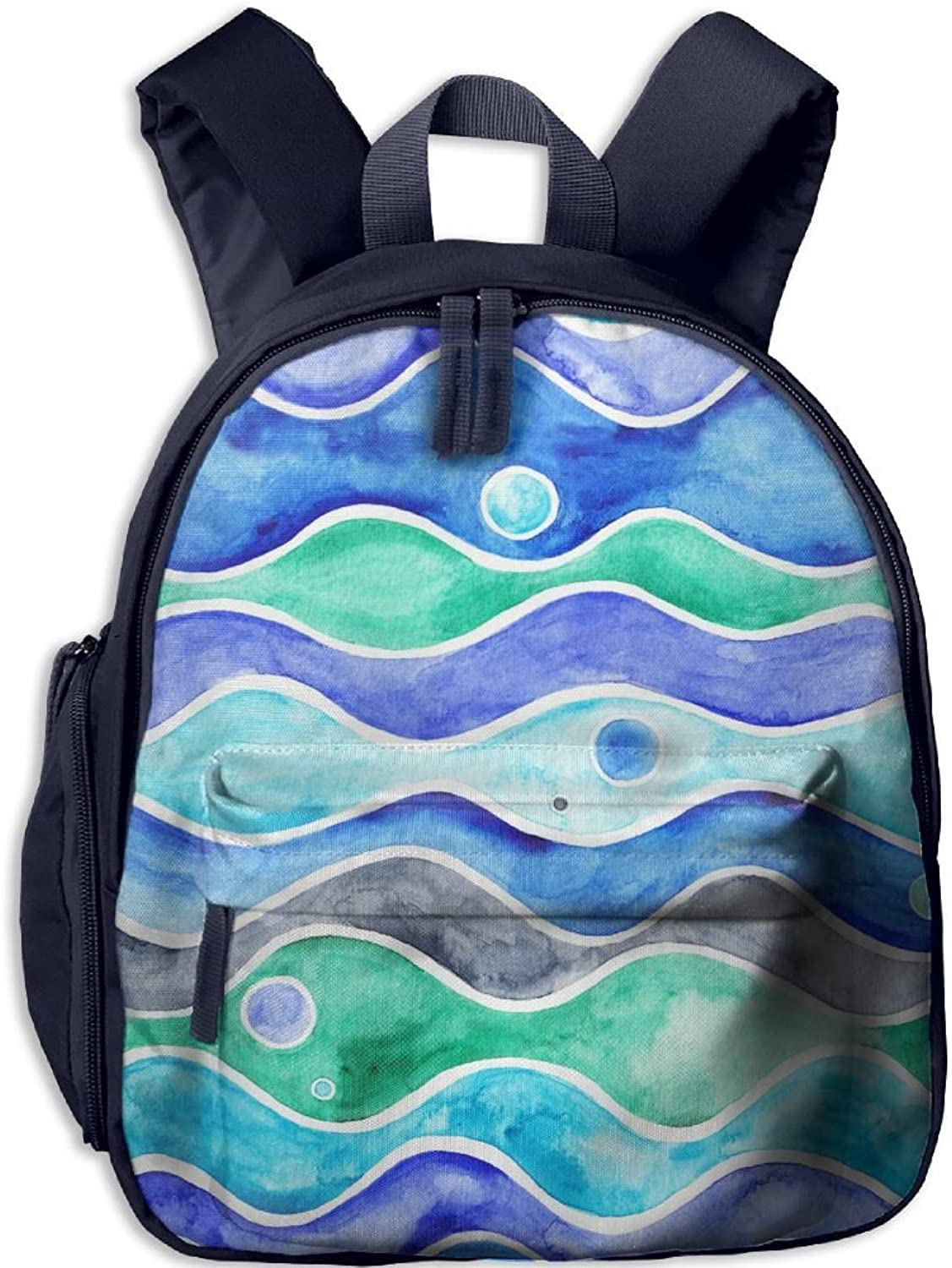 School Bag Ocean Waves(8131) With Durable Travel Camping Backpack For Boys And Girls