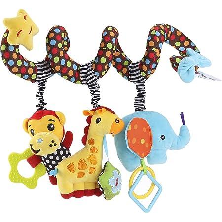 TOYMYTOY Cama Cochecito Juguete Espiral Actividades Juguetes Colgando Cuna Sonajero Bebé Kids Juguetes Educativo Peluche Cochecito Toys