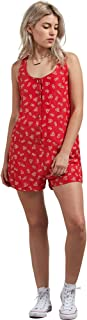 Women's Back N The Daisy A-line Romper Floral Print Dress
