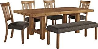 Ashley Furniture Signature Design - Tamilo 6-Piece Dining Room Set - Includes Rectangle Extension Table, Bench & 4 Side Chairs