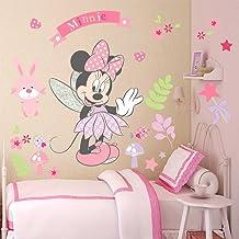 Kibi Pegatinas Infantiles Pared Minnie Pegatinas Decorativas Pared mickey Mouse Stickers Pared Mickey Dormitorio Calcomanias para Niños Pared Calcomanias Mickey