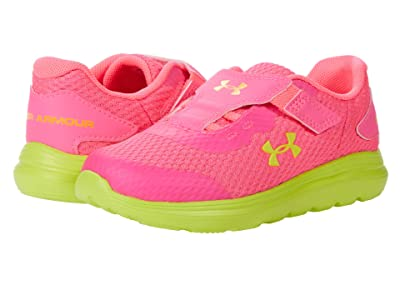 Under Armour Kids Surge 2 (Toddler) (Cerise/Black/Yellow Ray) Girls Shoes