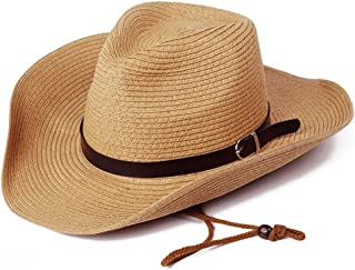 Summer Men Straw Cowboy Hat Outdoor Sun Protection Sun Hat Foldable Caps