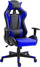 Mahmayi C599_BLUE Gaming Chair High Back Computer Chair PU Leather Desk Chair PC Racing Executive Ergonomic Adjustable Swivel Task Chair with Headrest and Lumbar Support (BLUE)