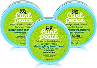 Just for Me Curl Peace Tender Head Detangling Treatment (3 Pack) - Rinses Away Knots, Pre-Wash, Post-Styling, Contains No Parabens, Sulfates, Mineral Oil, Petrolatum, or Animal Testing, 12 oz