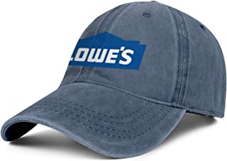 Mens Womens Lowes-Logo- Adjustable Classic Golf Hats Trucker Washed Dad Hat Cap