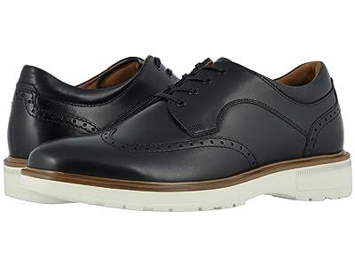 Florsheim Astor Wing Tip Oxford (Black Smooth/Cream Sole) Men